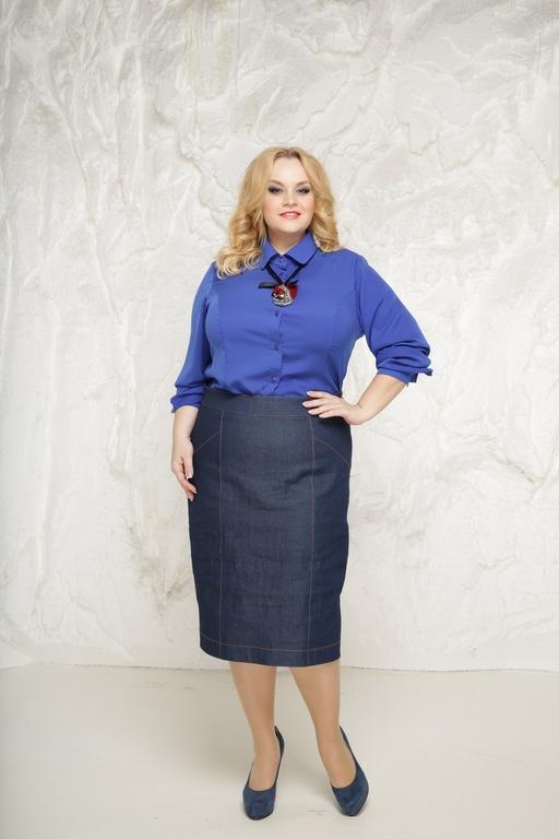 Джинсовая юбка размер